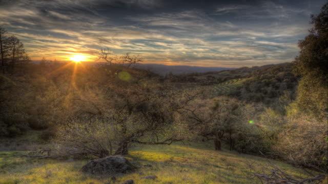 Sunset in Sonoma, California video