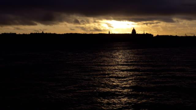 Sunset in St. Petersburg. video
