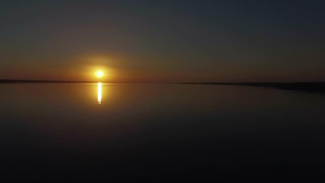 Pôr do sol no rio Tietê - vídeo