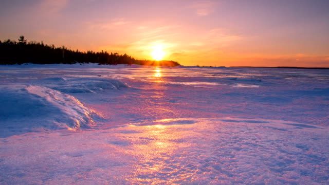 Sunset in Winter video