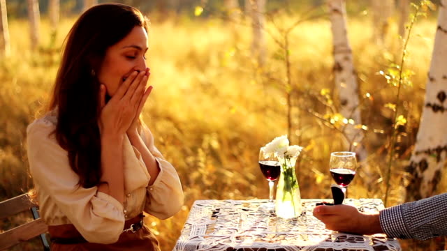 Sunset Marriage Proposal Diamond Ring video