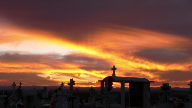 Sunset Mexico Cemetary Time Lapse 10 HD