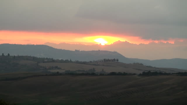 Sunset Montalcino video