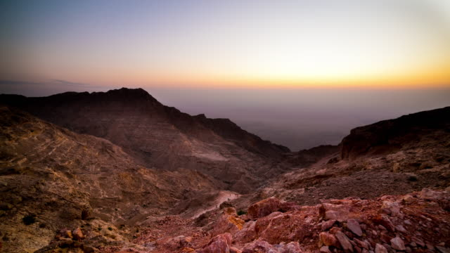 sunset mountain part of uae time lapse video