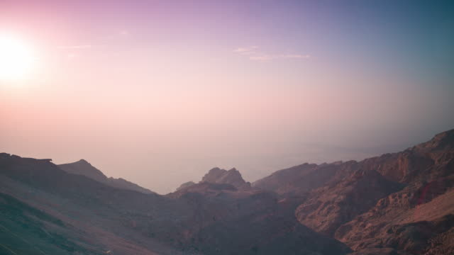 sunset mountain time lapse from uae video
