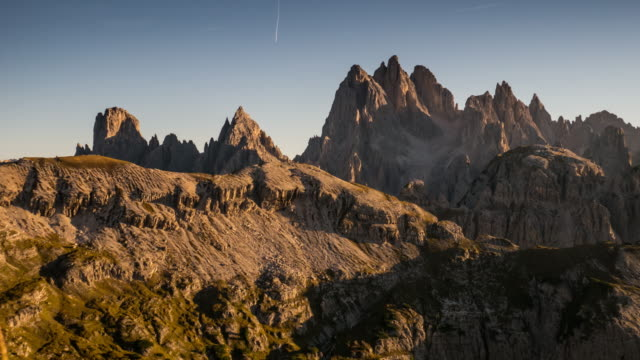 Sunset of Dolomites Mountain , South tyrol , Italy , Time Lapse Movement 4K(UHD) : Sunset of Dolomites Mountain , South tyrol , Italy , Time Lapse Movement , Apple ProRes 422 (HQ) , 3840x2160 format saddle stock videos & royalty-free footage