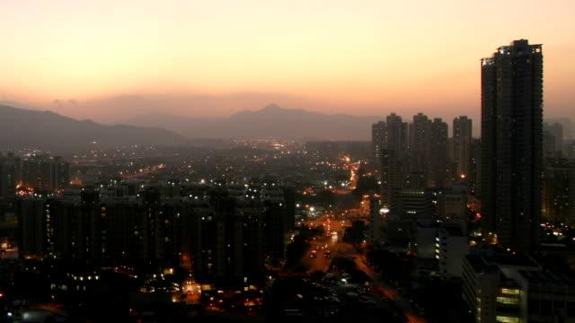 Sunset of Yuen Long, Hong Kong. video
