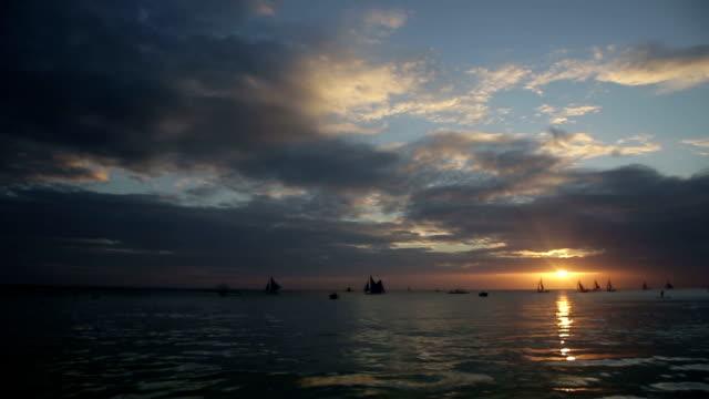 Sunset on Boracay Island video