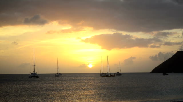 sunset on caribbean beach HD video: sunset on caribbean beach turks and caicos islands stock videos & royalty-free footage