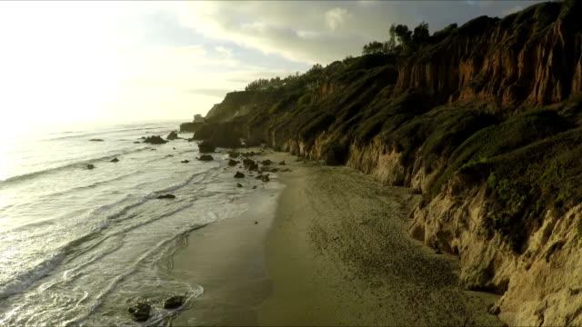 Sunset on El Matador - wonderful beach in Malibu, California. video