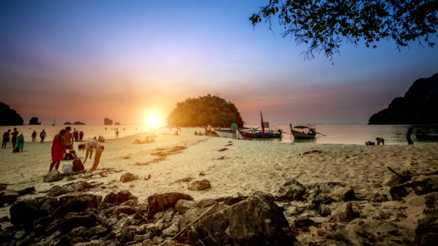 Sunset on Krabi video