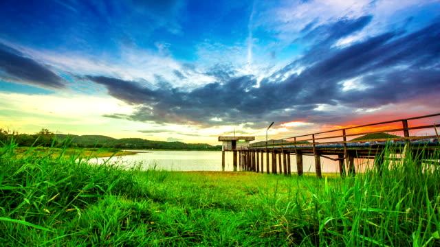 Sunset on Lake video