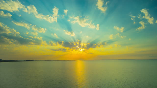 Sunset On The Black Sea Panoramic Timelapse Stock Video