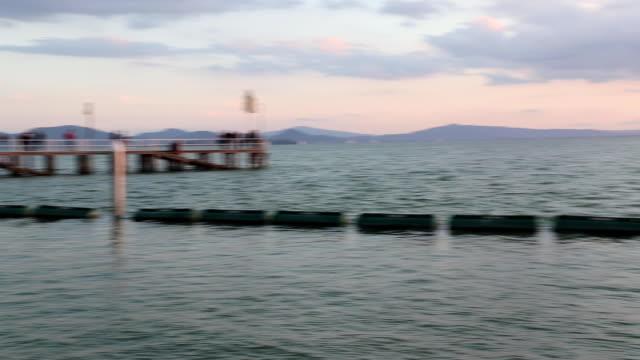 Sunset on the lake - panoramic