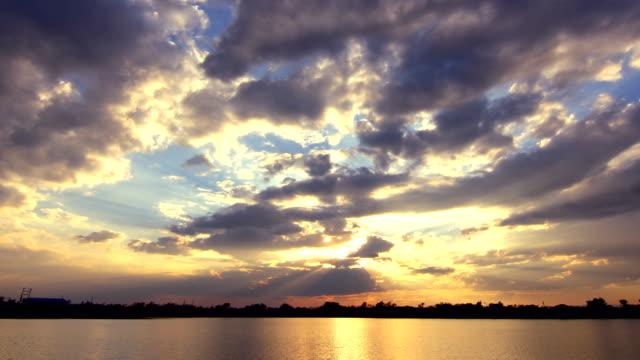 Sunset or sunrise cloudscape. video