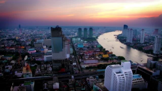 Sunset over Bangkok video