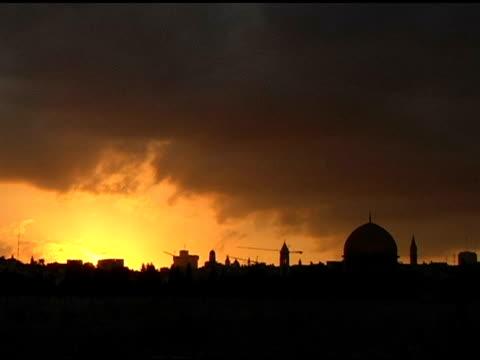 Sunset over Jerusalem normal speed video