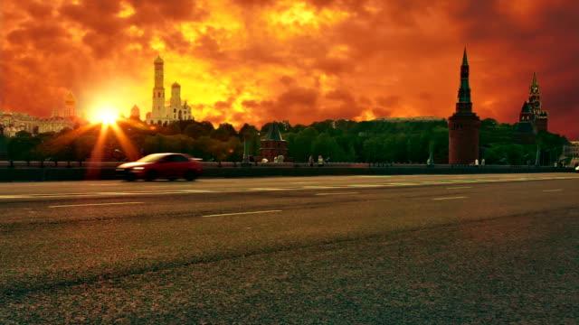 sunset over kremlin - kreml bildbanksvideor och videomaterial från bakom kulisserna