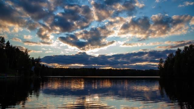 solnedgång över sjön - finland bildbanksvideor och videomaterial från bakom kulisserna