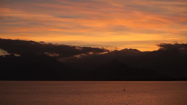 Sunset over Mediterranean Sea video