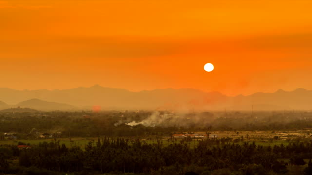Sunset over mountain landscape Time lapse sunset on mountain landscape of thailand, High Definition 1920 x 1080 time zone stock videos & royalty-free footage