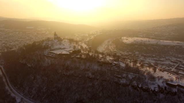 Sunset over old town of Veliko Tarnovo video