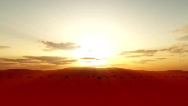 sunset over sahara desert - libia video stock e b–roll