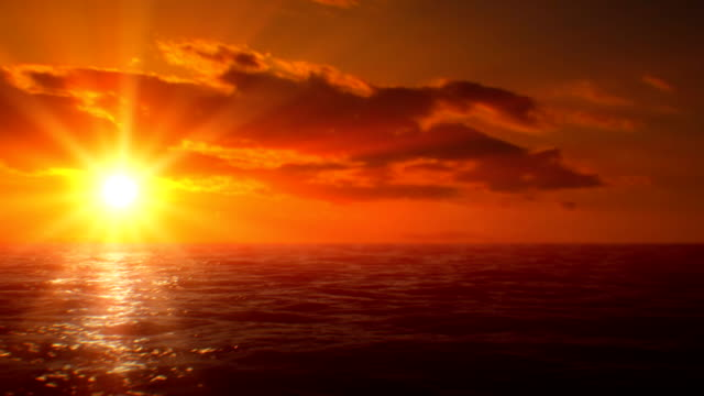 Sunset over sea (loopable)