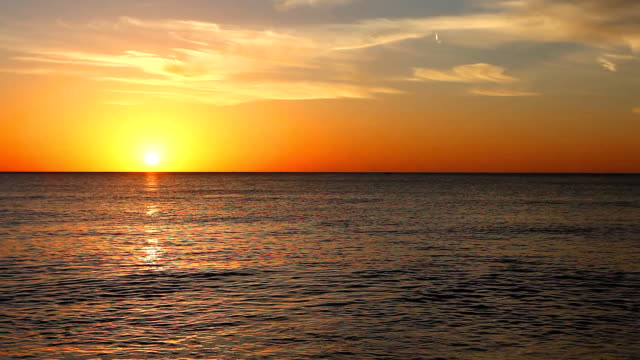 Sunset over the Gulf in Florida video