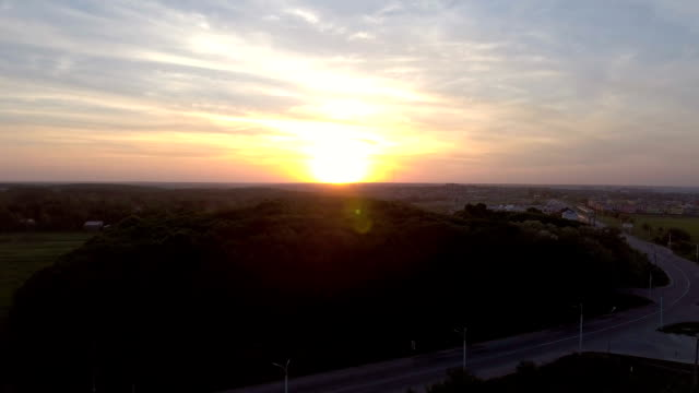 sunset over the old city - vídeo
