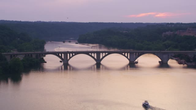 Sunset over the Potomac River.