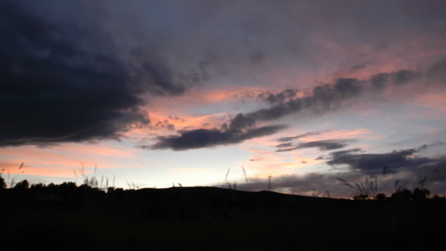 Sunset over the Rocky Mountains video