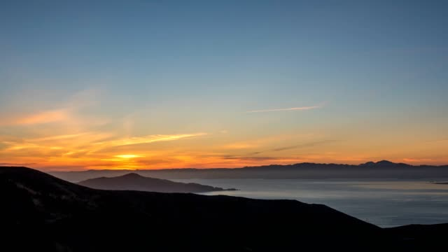 Sunset over the San Francisco Mountains video