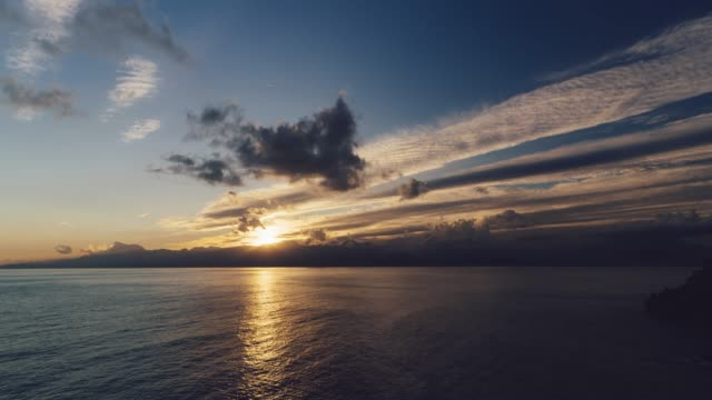 Sunset over the sea and Mountains in Antalya Sunset over the sea and Mountains in Antalya sunset to night time lapse stock videos & royalty-free footage