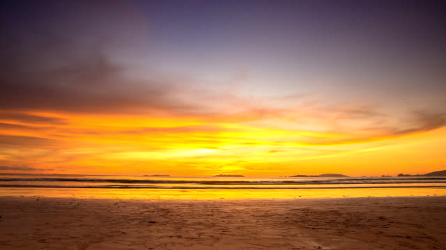 Sunset over the sea time-lapse