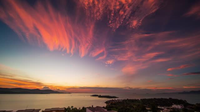 海の夕日  - サムイ島点の映像素材/bロール