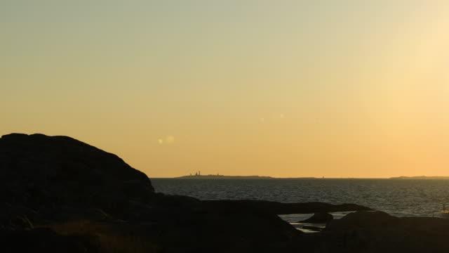 solnedgång över havet - bohuslän nature bildbanksvideor och videomaterial från bakom kulisserna