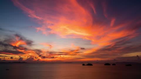 tramonto sul mare - composizione orizzontale video stock e b–roll