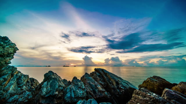 Sunset over the sea Sunset timelapse 4k sunset to night time lapse stock videos & royalty-free footage