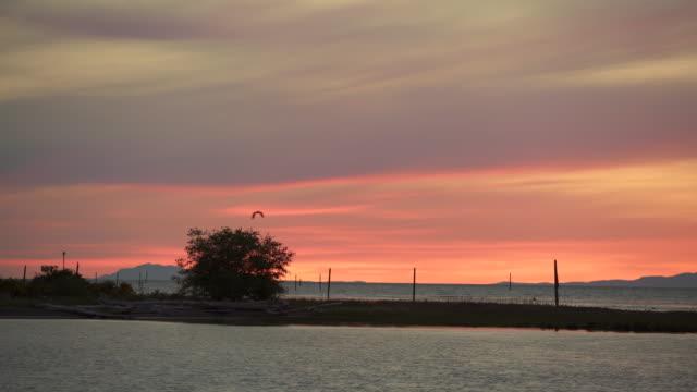 Sunset over the Strait of Georgia 4K UHD