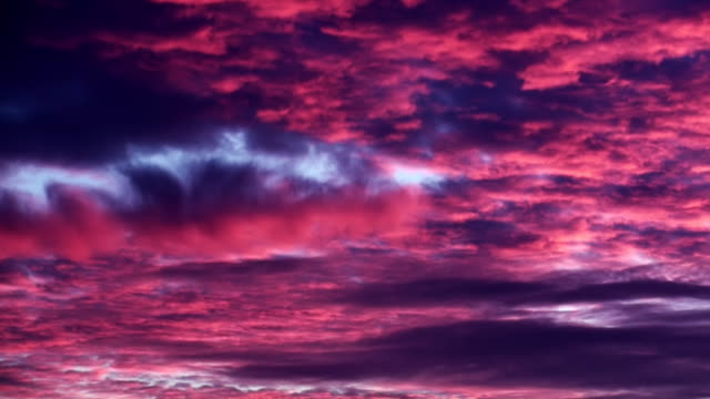 Sunset Red Evening Clouds Background video