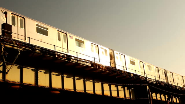 Sunset Reflection of the 7 Train in Sunnyside Queens video
