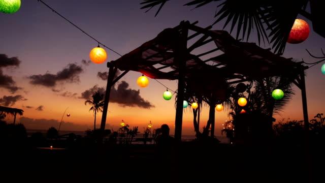 Sunset Restaurant Bali 4k – Video