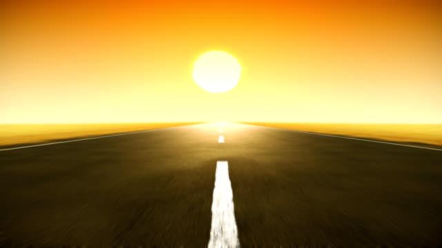 Sunset road loop HD. video