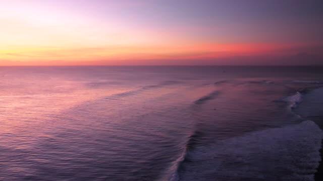 Sunset scene in Bali video