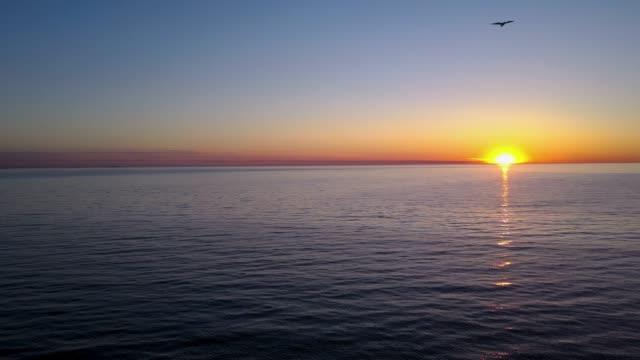 Sunset seascape video