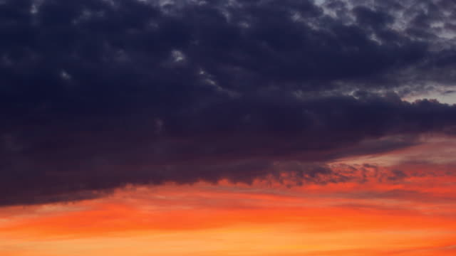 Sunset. sky and clouds timelapse video