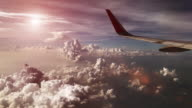 istock Sunset sky from airplane 877263904