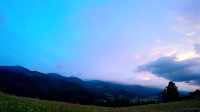 Sunset Sky over the Mountains. video