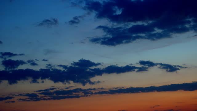sunset sky, timelapse video